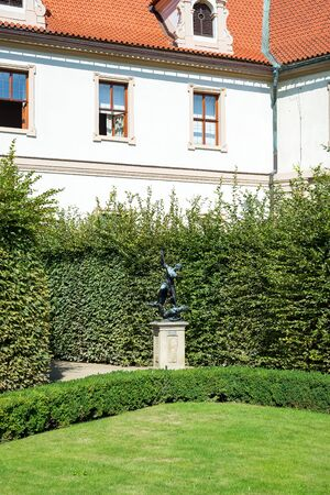 PRAGUE, CZECH REPUBLIC - 18.07, 2018: Mythical characters sculpture in the garden Wallenstein garden in Mala Strana district Prague Czech Republic Europe