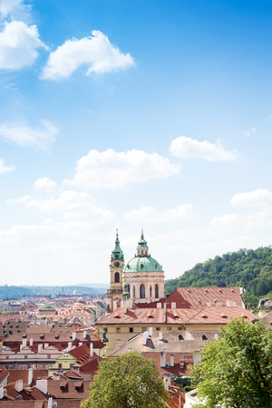 The red roof is the main view in the praha from the Praha castle, Czech Republic