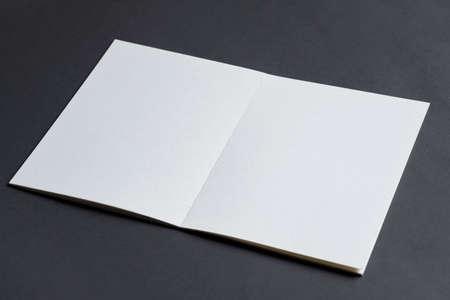 Folded bifold business green card mockup Standard-Bild