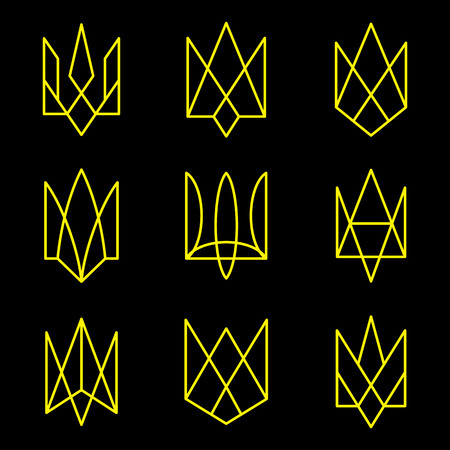 emblem of ukraine: Vector geometric figures. Emblem of Ukraine