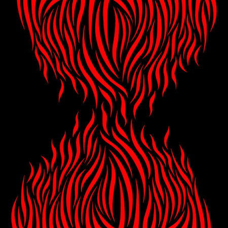 flare up: Abstract fire flame, vector illustration Illustration