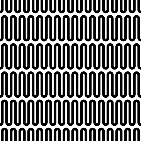 meandering: Vector seamless pattern. Geometric monochrome texture. Abstract background.
