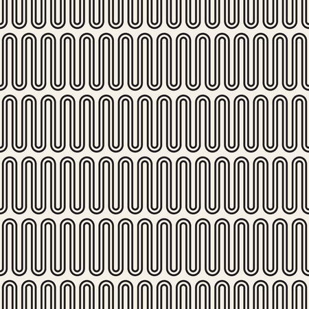 convoluted: Vector seamless pattern. Geometric monochrome texture. Abstract background.