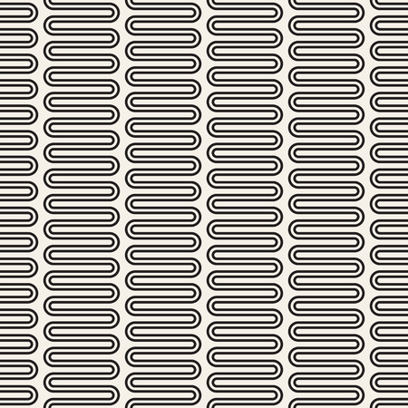 Vector seamless pattern. Geometric monochrome texture. Abstract background.
