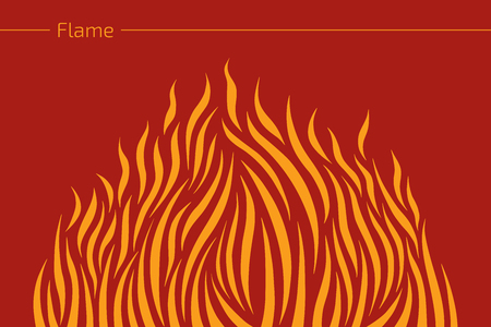 ablaze: Abstract fire flame. Vector illustration. Illustration