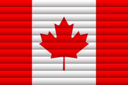Canada Flag. Vector Illustration.