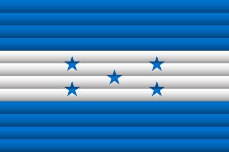 Honduras flag illustration. Ilustrace