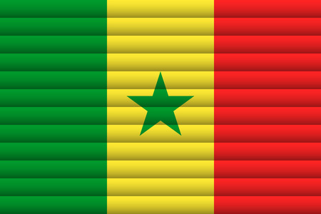 Senegal flag illustration.