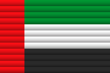 UAE flag illustration.