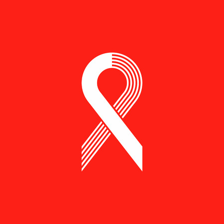 World Remembrance Day of AIDS Victims. Ribbon aids symbol. May 20 on red background. Vector illustration icon. logo vector. Medical sign. Awareness. Vectores