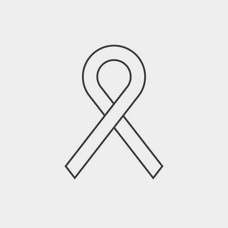 Ribbon aids symbol illustration on light background. Ilustrace
