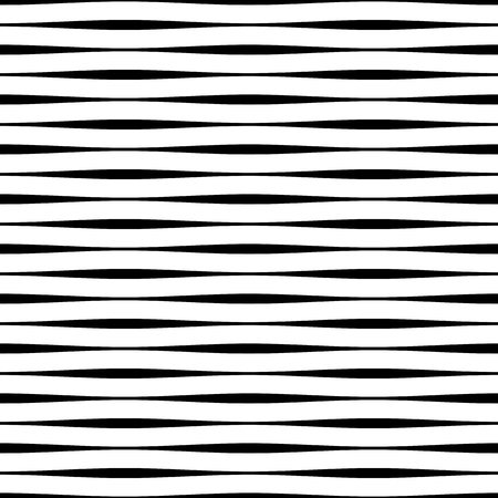 Vector seamless pattern. Repeating vector texture. Modern striped texture. Monochrome abstract background. Striped rippled background. Vectores