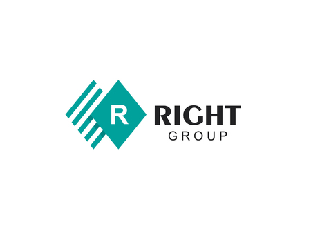 Vector sign letter R. Business finance logo. Economic finance investment icon. Accounting logo template. Marketing rate simple rhombus logotype. Design elements. Logo