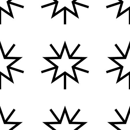Cute seamless pattern with stars. Seamless pattern design for banner, poster, postcard, cover and business card. Vector background