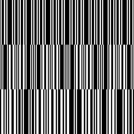 Black line seamless pattern background. Stylish decorative stripes set. Geometrical simple vertical image. Vector illustration for your design.