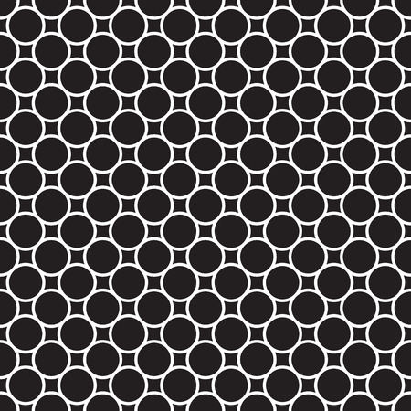 Vector seamless pattern with small circles and rings. Simple modern abstract background. Linear monochrome geometric texture. Stylish design for banner, poster, card, postcard, cover, business card. Illustration