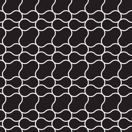 Vector seamless pattern. Irregular grid with rounded angles. Stylish mosaic texture. Hand drawn linear background with structure of mesh leaf veins. Contemporary graphic design.