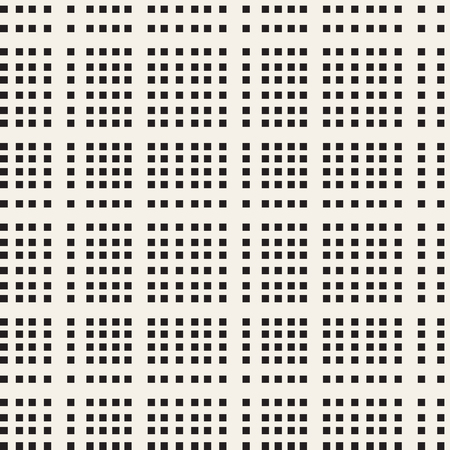 Black and white checkered vector seamless pattern