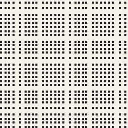 Black and white checkered vector seamless pattern Ilustración de vector