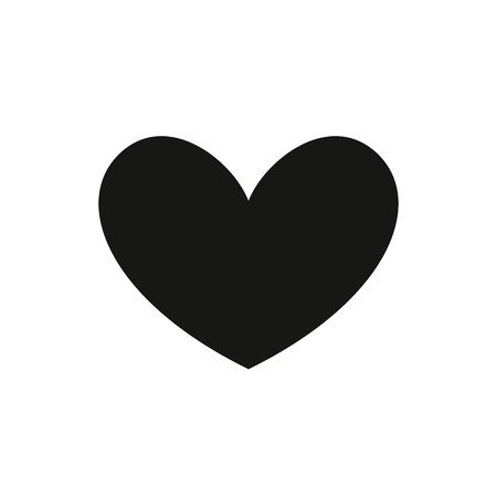 Black heart Icon in trendy flat style isolated on white background. Love symbol for your web site design, logo, app, UI. Simple vector element illustration. Stock Illustratie