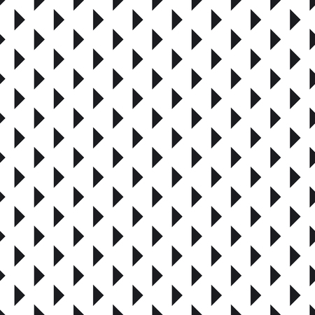 Tile pattern with black triangles on white background. Seamless vector pattern. Abstract geometric design. Standard-Bild - 118118486