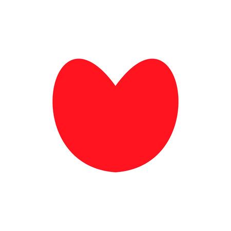 Rotes Herz-Symbol im trendigen flachen Stil isoliert auf weißem Hintergrund. Liebessymbol für Ihr Website-Design, Logo, App, Benutzeroberfläche. Einfache Vektorelementillustration.