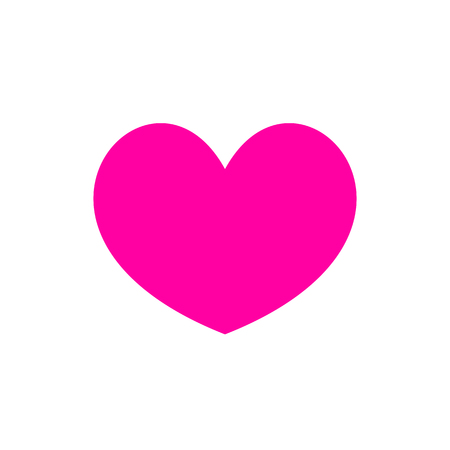 Pink heart Icon in trendy flat style isolated on white background. Love symbol for your web site design, logo, app, UI. Simple vector element illustration.