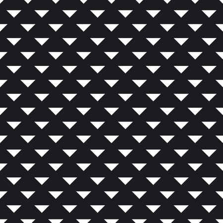 Tile pattern with black triangles on white background. Seamless vector pattern. Abstract geometric design.