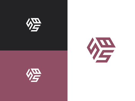 Combined number 585, vector element of the icon template. Set of numbers can be used as a city birthday or as a sports number for competitions. Simple creative geometric sign. Emblem for your design.