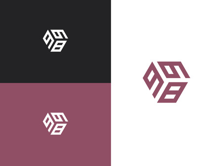 Combined number 998, vector element of the icon template. Set of numbers can be used as a city birthday or as a sports number for competitions. Simple creative geometric sign. Emblem for your design. Illusztráció
