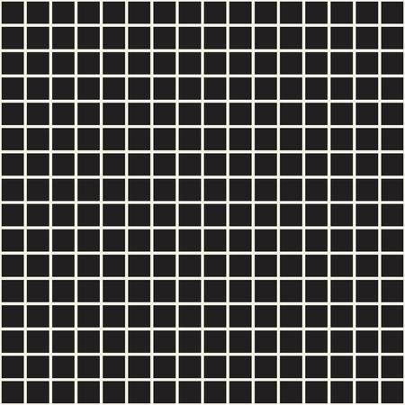 Cuadrícula simple de líneas que se cruzan. Patrones abstractos sin fisuras con cuadrados. Fondo o textura a cuadros del cuadrado negro del vector. Diseño de tela, papel tapiz.