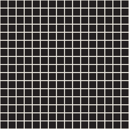 Simple grid of intersecting lines. Abstract seamless patterns with squares. Vector black square checkered background or texture. Cloth design, wallpaper.