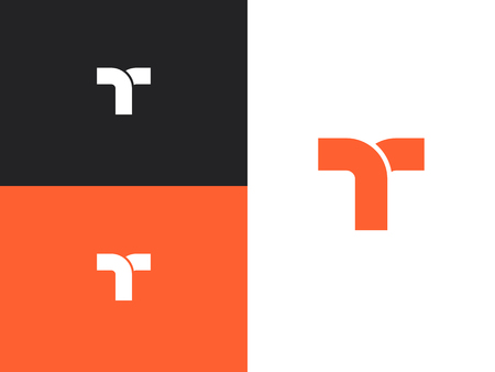 Letter T logo icon design template elements. Logotype concept icon.