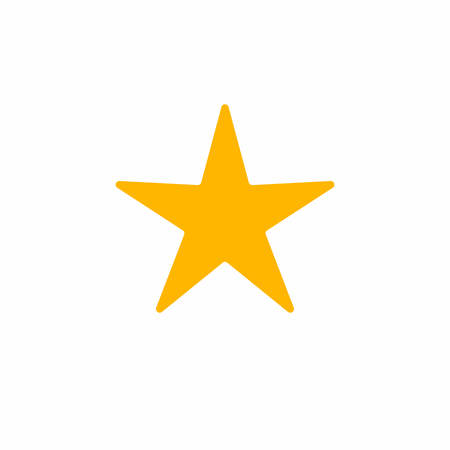 Yellow star icon on white background. Vector illustration for your design.
