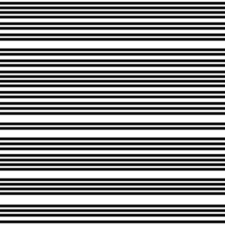 Narrow black-white horizontal  lines. Striped seamless pattern, abstract wallpaper. Vector Illustration.  イラスト・ベクター素材