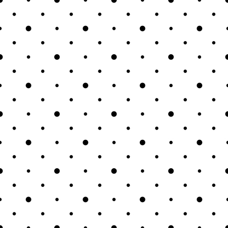 Seamlessly repeatable pattern with dots, circles. Monochrome abstract illustration in speckled, halftone style. Geometric pointillist texture.
