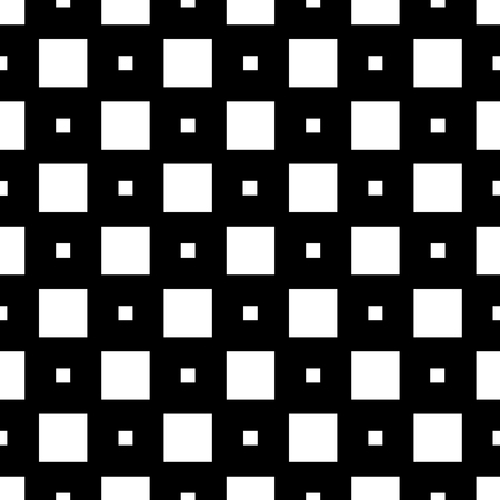 Monochrome abstract seamless pattern with rectangle. Wrapping paper. Scrapbook paper. Tiling. Vector illustration. Background. Graphic texture for design, wallpaper. Vectores