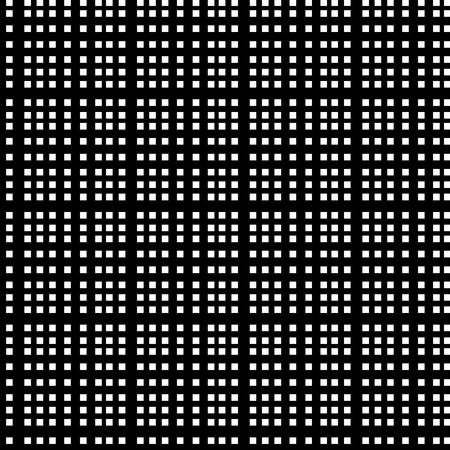 Grid of intersecting lines. Abstract seamless patterns with squares Vectores