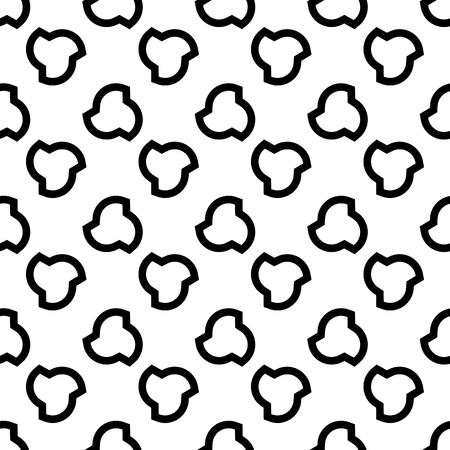 Vector seamless pattern, minimalist monochrome geometric texture. Illustration of propellers, vanes. Black white background. Design element for printing, stamping, digital, decoration