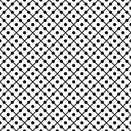 Repeated diamonds with dots inside. Geometric seamless pattern. Light background for textile products, wallpaper, print for clothing, paper for packaging. Vector illustration.