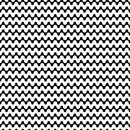Horizontal Seamless Pattern. Geometric Monochrome Texture. Abstract Background. Vector Illustration. Black and white decorative element. Strong structure.