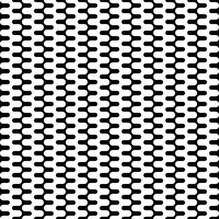 Vertical Seamless Pattern. Geometric Monochrome Texture. Abstract Background. Vector Illustration. Black and white decorative element. Strong structure.