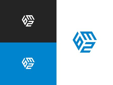 Number 632, vector element of the icon template. Simple creative geometric sign. Emblem for your design.