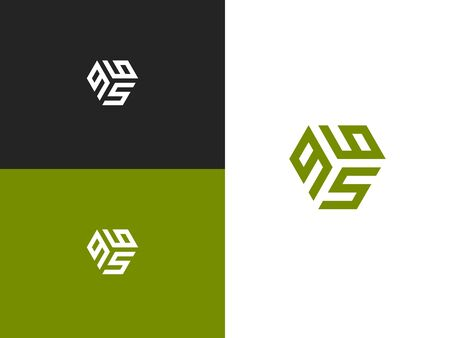 Combined number 965, can be used as a city birthday or as a sports number for competitions. Simple creative geometric sign. Vector illustration for your design. 向量圖像