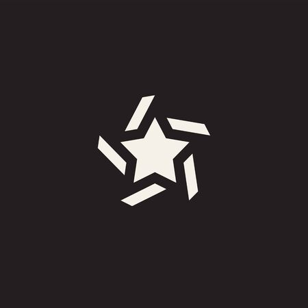 Concept rating, success, awards. Star icon pictogram. Suitable for use on web apps, mobile apps and print media. Vector illustration for your design. Black white version.