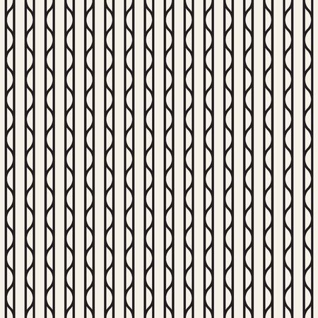 Abstract brindle seamless pattern wallpaper. Vector illustration of vertical straight and wavy lines. Monochrome background. Black and white repeat design for decor, tileable print, interior design.