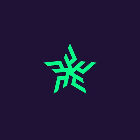 Tribal star icon. Ethnic geometrical pattern. Minimalistic style design. Abstract geometric shape. Simple vector element illustration in a modern style. 向量圖像