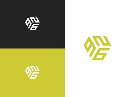 Combined number 926, vector element of the icon template. Set of numbers can be used as a city birthday or as a sports number for competitions. Simple creative geometric sign. Emblem for your design. 向量圖像