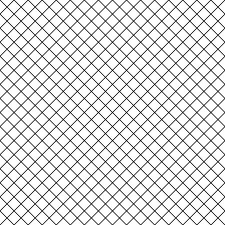 Abstract mosaic grid, mesh background with square shapes. Seamlessly repeatable. Grating, lattice pattern. Black white version. Çizim