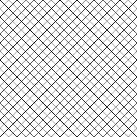 Grille de mosaïque abstraite, fond de maille avec des formes carrées. Répétable en toute transparence. Caillebotis, motif en treillis. Version noir blanc. Vecteurs